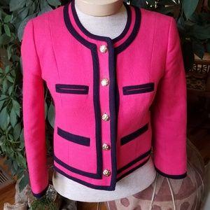 J Crew cropped wool blazer